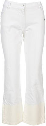 Off-White Cropped Flared Jeans