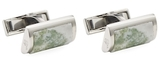 Canali Agate Cerimonial D-Shaped Cufflinks