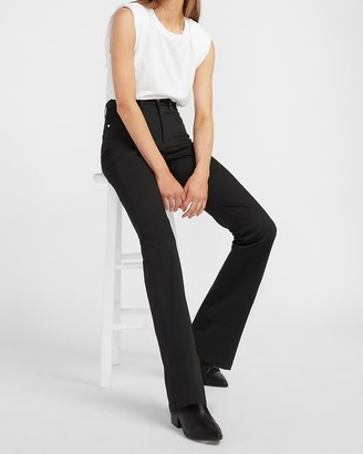 Express High Waisted Luxe Polished Black Bootcut Jeans