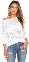 Twenty Twist Perforated Long Sleeve Top