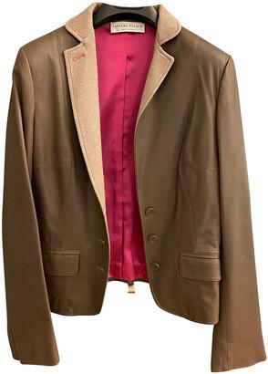Fabiana Filippi Khaki Leather Leather jackets