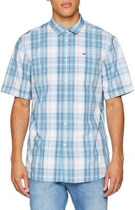 Tommy Jeans Men's Summer Check Short Sleeve Classic Casual Shirt