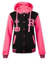 NOROZE Womens Baseball R Varsity Jacket Hoody