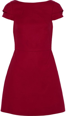 Halston Cotton-blend Cady Mini Dress