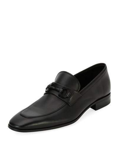 Salvatore Ferragamo Men's Soft Calfskin Slip On Gancini Loafer