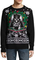 NOVELTY SEASON Novelty Season Crew Neck Long Sleeve Star Wars Cotton Blend Pullover Sweater LED Lights