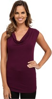 Adrianna Papell Solid V-Neck Cap Sleeve Top