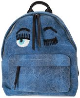 Chiara Ferragni Flirting Eye Denim Backpack
