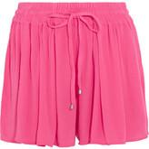 Splendid Crinkled-gauze Shorts - Pink