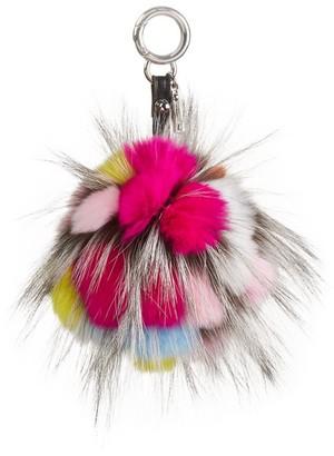 Julia & Stella For The Fur Salon Rabbit & Fox Fur Pom-Pom Keychain
