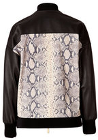 Ungaro Python Printed Leather Jacket