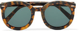 Karen Walker Super Duper Strength Square-frame Acetate Sunglasses - Tortoiseshell