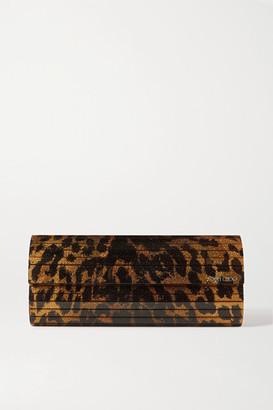 Jimmy Choo Sweetie Leopard-print Glittered Acrylic Clutch - Leopard print