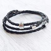 Infinity Keepsakes Leather Wrap Bracelet With Personalised Beads