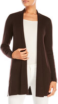 Eileen Fisher Open Front Longline Wool Cardigan