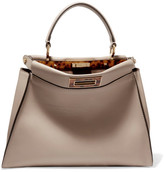 Fendi Peekaboo Medium Leather Tote - Beige