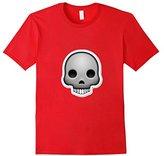 Kids Skull Emoji T-Shirt Bones Head Emoticon Crossbones Death 12