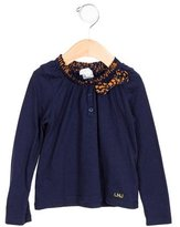 Little Marc Jacobs Girls' Bow-Embellished Long Sleeve Top