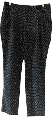 Theory Black Silk Trousers