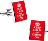 Accessories Keep Calm and Carry On Cufflinks