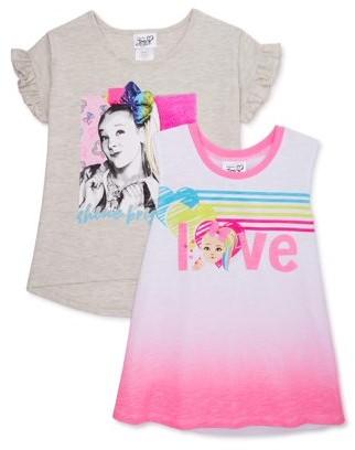 Nickelodeon Jojo Siwa Girls Flip Sequin and Foil Graphic T-Shirt & Tank Top, 2-Pack, Sizes 4-16