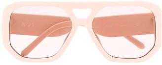 No.21 Nude D-frame Sunglasses