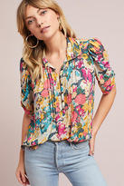 Maeve Printed Henley Blouse