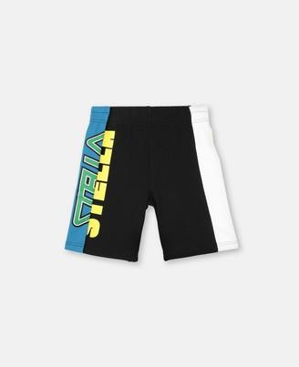 Stella Mccartney Kids Stella McCartney sport colour block fleece shorts