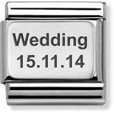 Nomination Classic Silver Charm Engraved with Wedding (Date)