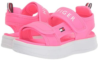 Tommy Hilfiger Leomi (Little Kid/Big Kid) (Neon Pink Sportbuck) Girl's Shoes