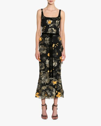 Marchesa Sleeveless Scoop Neck Cocktail Dress