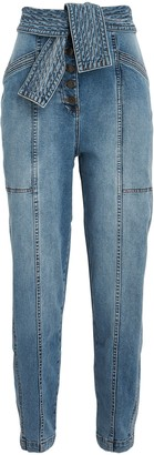 Ulla Johnson Otto Tie-Waist Crop Jeans