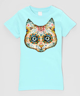 Micro Me Mint Muertos Cat Fitted Tee - Infant Toddler & Girls