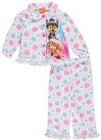 """Paw Patrol Little Girls' Toddler """"Ruffled Snowflakes"""" 2-Piece Pajamas"""