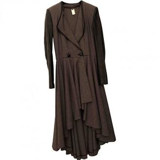 Thomas Wylde Brown Wool Coat for Women