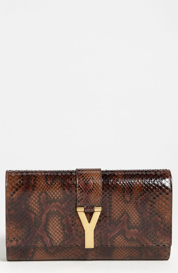 Yves Saint Laurent Saint Laurent 'Cabas Chyc - Large' Genuine Python Clutch