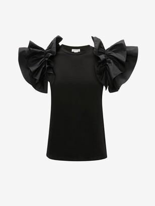 Alexander McQueen Bow Sleeve T-Shirt