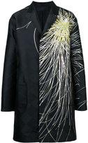 Haider Ackermann checkered printed coat