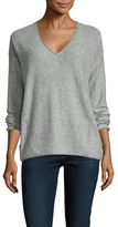Three Dots Rosalinda Wool Cashmere V-Neck Sweater