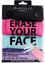 Danielle Creations Erase Your Face Makeup Removing Cloths, Black/Purple/Pink/Turquoise, Pack of 4