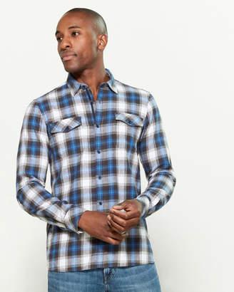 Civil Society Plaid Pocket Long Sleeve Sport Shirt