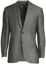 Brioni Herringbone Linen-Blend Jacket