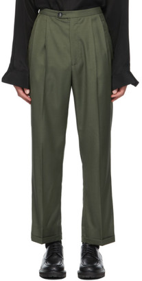 Winnie New York Green Wool Suiting Trousers