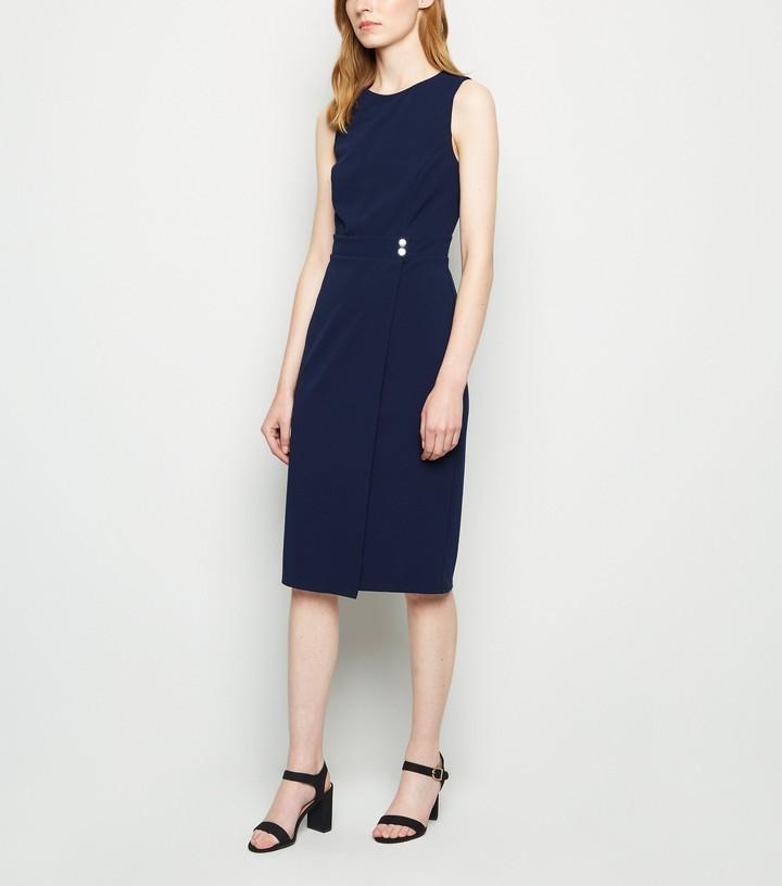 New Look Sleeveless Wrap Pencil Shift Dress