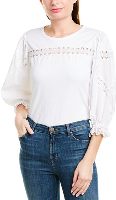 Rebecca Taylor Lace-Knit Top