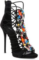 Giuseppe Zanotti Strappy Beaded Suede Sandals