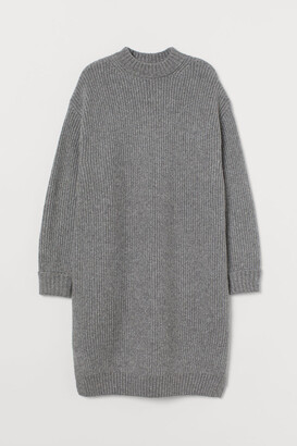 H&M Rib-knit Dress - Gray