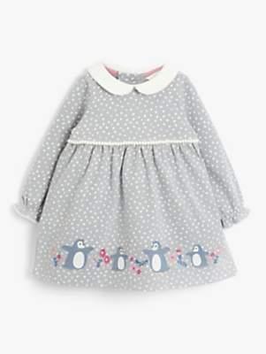 John Lewis & Partners Baby Penguin Dress, Grey