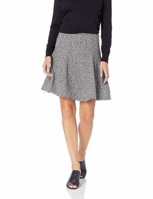 Ellen Tracy Women's Seamed Flare Skirt