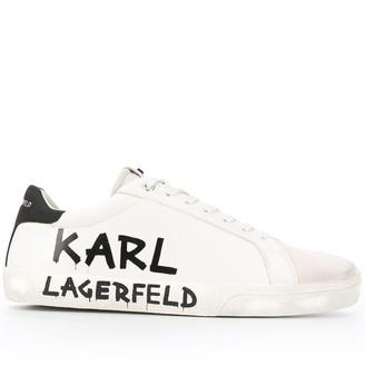 Karl Lagerfeld Paris Logo Low-Top Sneakers